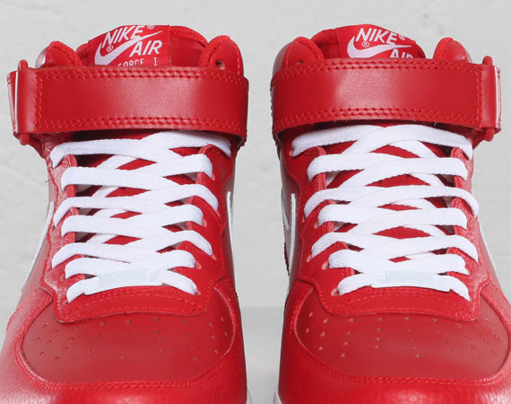 Nike Air Force 1 Mid Sport Red White Sneakernews Com