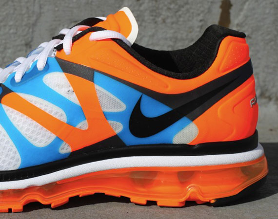 detailed pictures f7deb 1fbe8 Nike Air Max 2012 – White – Black – Total Orange – Bright Blue