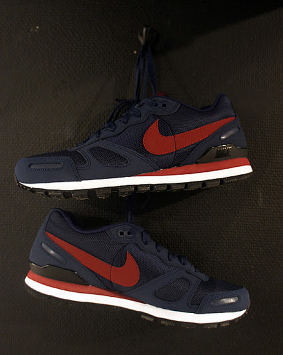 nike air waffle trainer white midnight navy. Black Bedroom Furniture Sets. Home Design Ideas