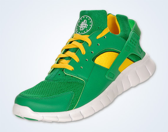 Nike Huarache Yellow Green