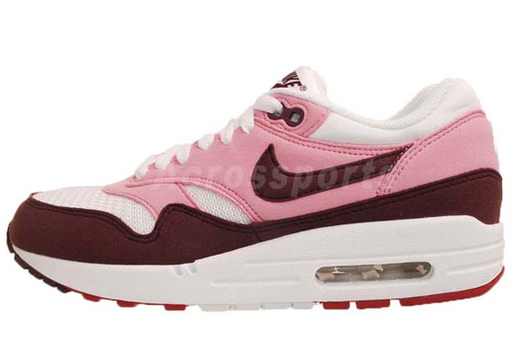 cheap for discount 3cfe5 fa987 Nike WMNS Air Max 1. Pink Cooler Red Mahogany-White-Gym Red 319986-603.  Advertisement