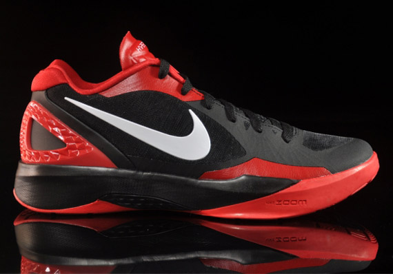 best service 01262 f06f0 Nike Zoom Hyperdunk 2011 Low Black White-Sport Red 487638-002. Advertisement