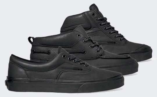 Vans 'Matte Black' Pack