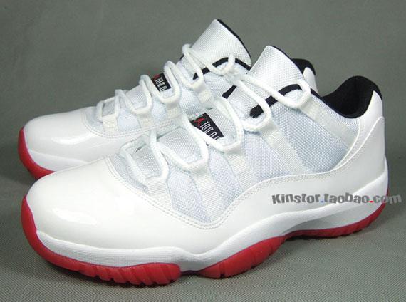 Air Jordan 11 Bas Ebay Blanc Rouge