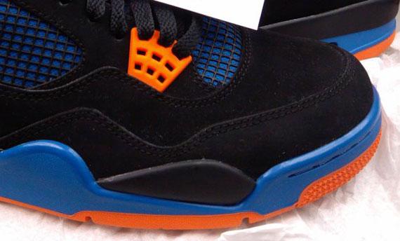 Air Jordan Iv Black Blue Orange