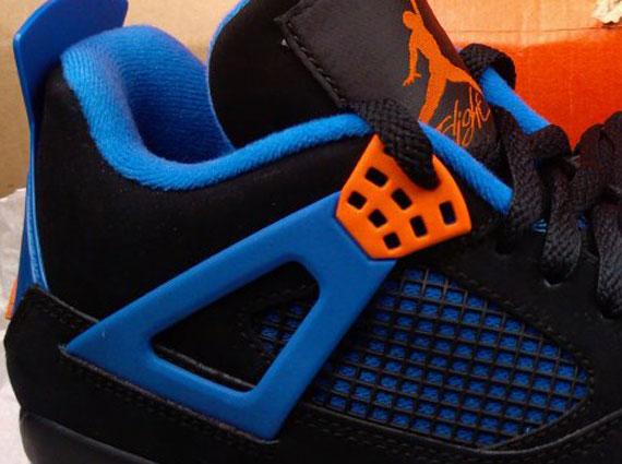Air Jordan 4 Blue Orange