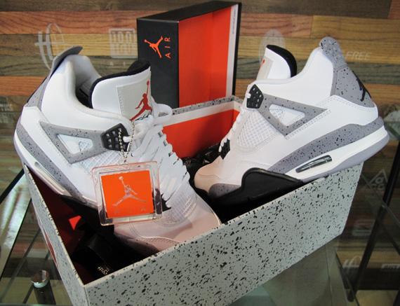 Jordan 4 Cement On Feet