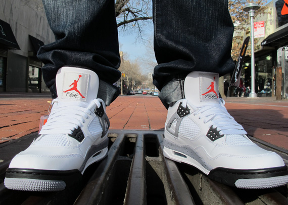 air jordan iv whitecement onfeet images
