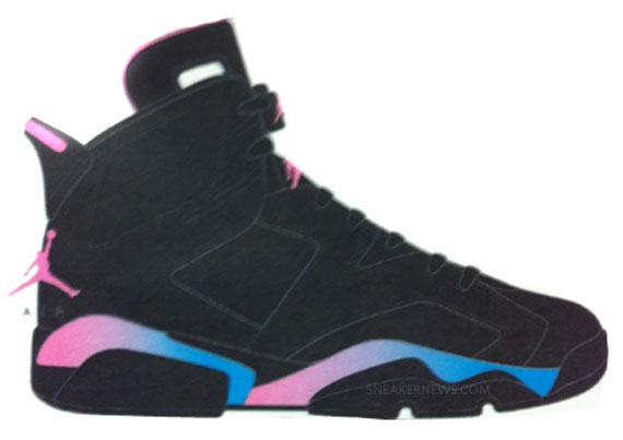 Air Jordan VI GS - Black - Pink Flash
