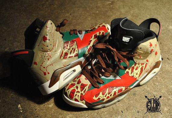 Air Jordan VI \u0027Krueger\u0027 Customs by El Cappy , SneakerNews.com