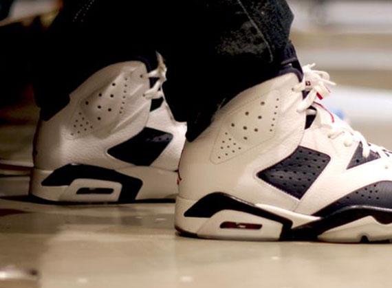 detailed look bfcc0 2b5d6 Air Jordan VI  Olympic  - New On-Foot Images - SneakerNews.com