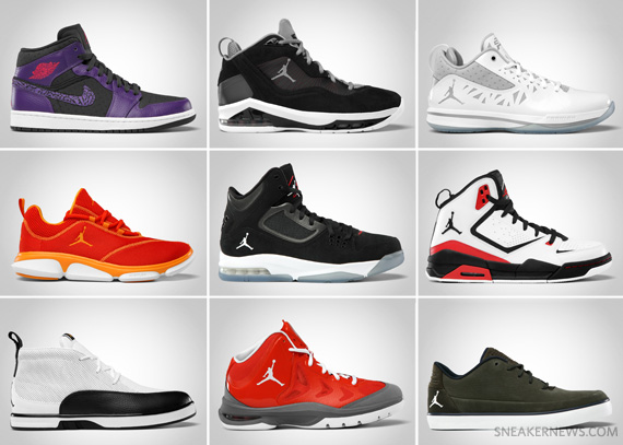 Jordan Brand April 2012 Footwear
