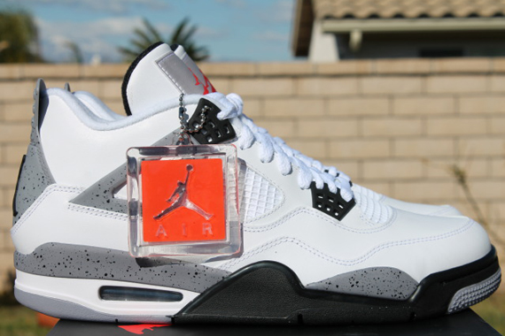 huge selection of 2739b badfe Air Jordan IV  White Cement  - Release Reminder - SneakerNews.com