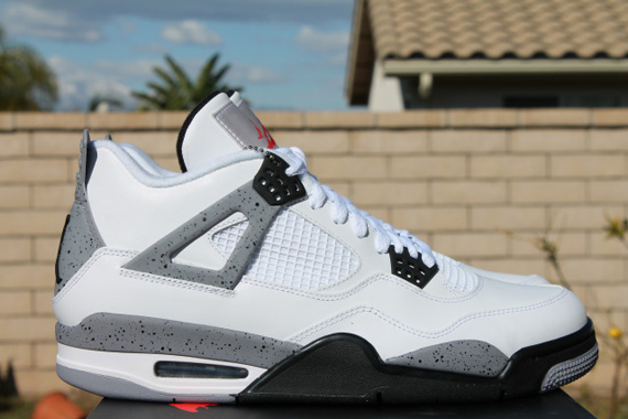 Jordan 4 Cement White