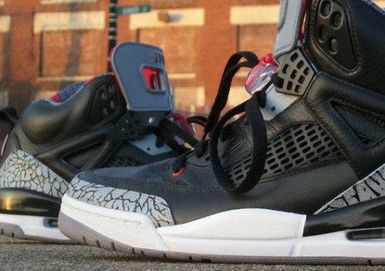 Jordan Spiz'ike 'Black Cement' Customs by Sab-One