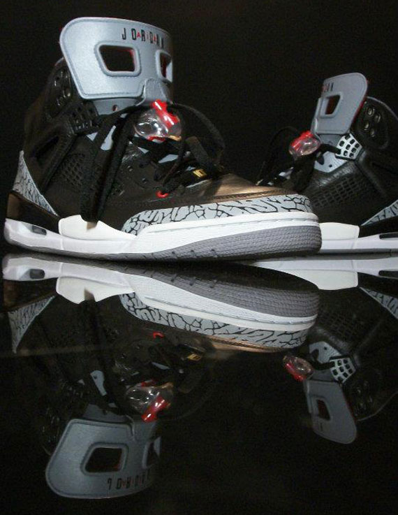 05eb42fbebf Jordan Spiz ike  Black Cement  Customs by Sab-One - SneakerNews.com