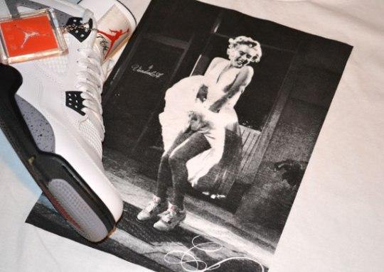 Marilyn Monroe x Air Jordan IV T-Shirt by Vandal-A