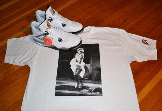Marilyn Monroe x Air Jordan IV T-Shirt