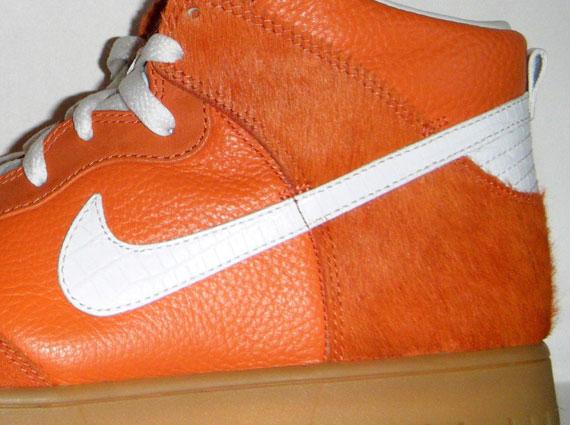 nouvelle basket jordan - Nike Dunk High Premium - Orange Horsehair Sample - SneakerNews.com