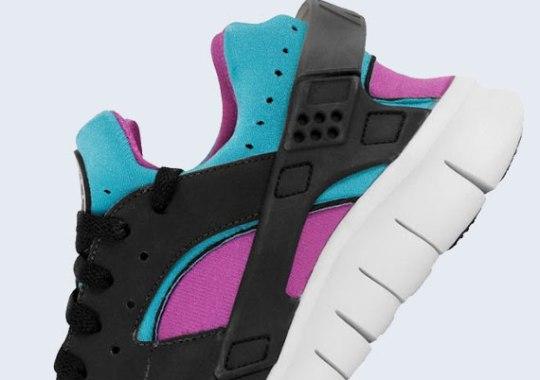 Nike Huarache Free 2012 – Black – Turquoise – Magenta