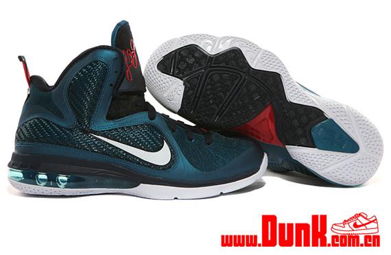 60c3d0801 Nike LeBron 9 Green Abyss Obsidian Light Blue Heather new ...