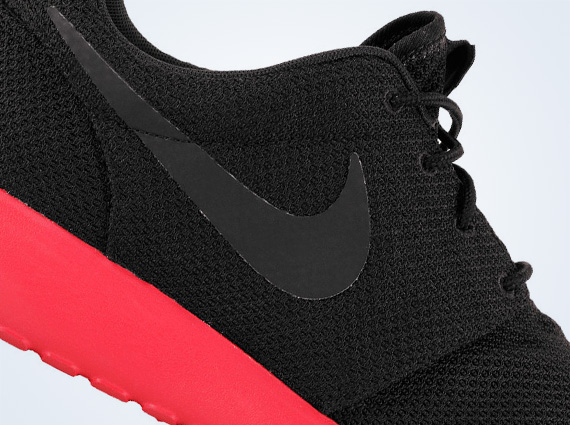 lowest price e59fc 8fce9 Nike Roshe Run - Black - Anthracite - Siren Red ...