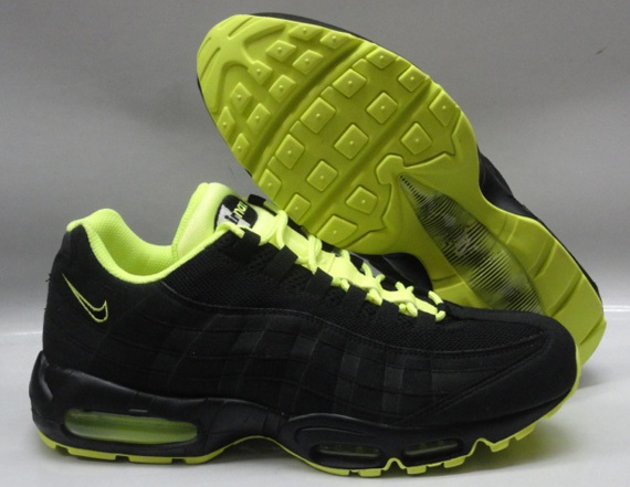 be7fe365ae Nike Air Max 95 - Black - Volt - White | Available - SneakerNews.com