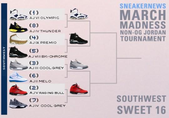 Sneaker News March Madness Non-OG Air Jordan Tournament – Sweet 16 Voting | Southwest