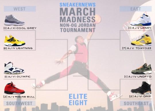Sneaker News March Madness Non-OG Air Jordan Tournament – Elite Eight Voting