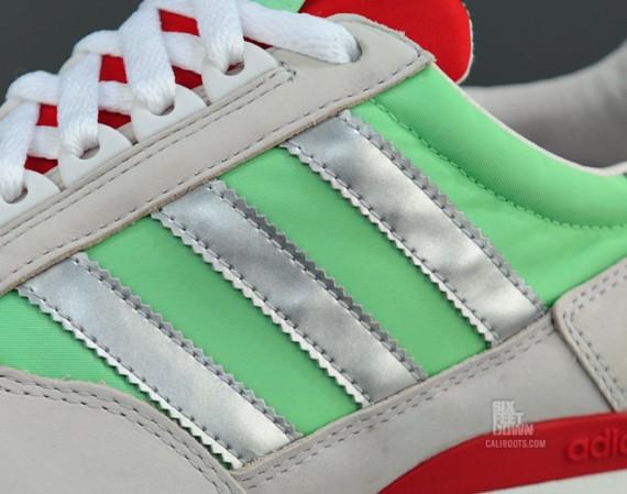 sale retailer f3a4d 044bf adidas Originals ZX 500 – Super Green – Light Scarlett