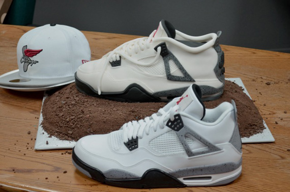 Air Jordan Iv White Cement Sneaker Cake Sneakernews Com