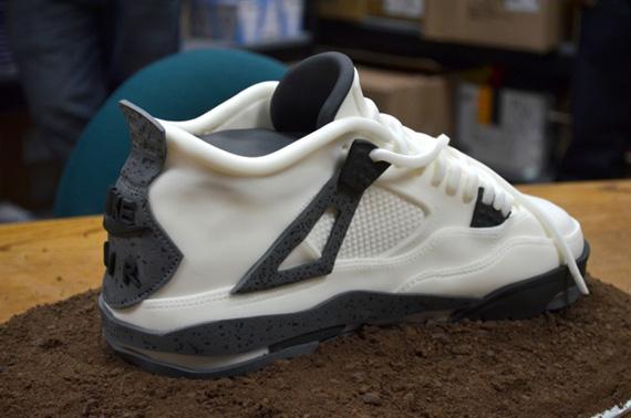 ee6a403310a64b Air Jordan IV  White Cement  Sneaker Cake - SneakerNews.com