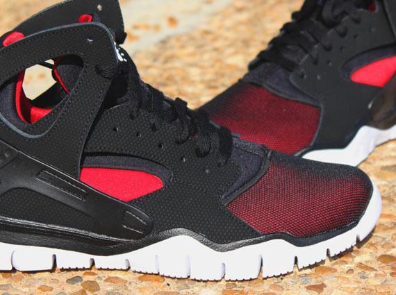 Nike Huarache Basketball 2012 Black Red