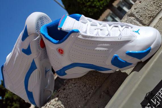 59d5ff53cbb3 Air Jordan XIV GS - White - Siren Red - Neptune Blue