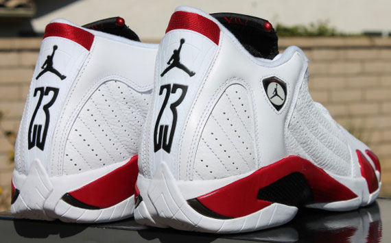 the latest 2edb8 d614f italy air jordan 14 white and red 10d00 29529