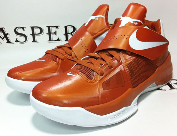 new styles bb31e 42504 Nike Zoom KD IV  Texas Longhorns  - Release Reminder - SneakerNews.com