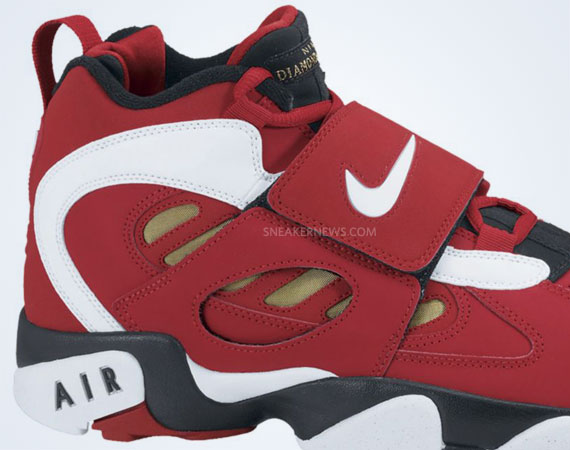 official photos 586e5 2f6e8 Nike Air Diamond Turf II – Varsity Red – White – Metallic Gold  Release  Date