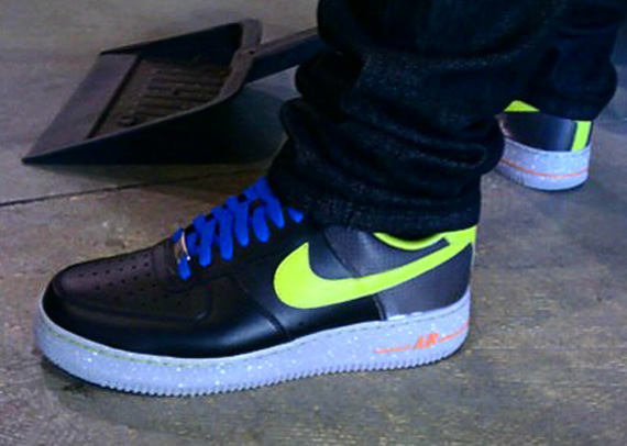 Nike Air Force 1 Low - Black - Yellow - Cement ...