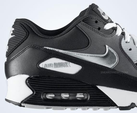 Nike Air Max 90 AnthraciteMetallic Silver Black White