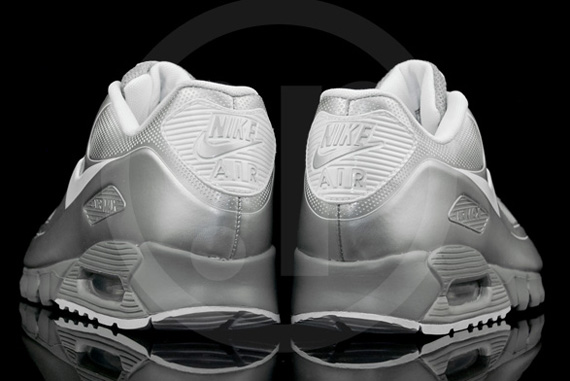 new style 7ef3d 4d234 well-wreapped Nike Air Max 90 Current VT LSR Metallic Silver