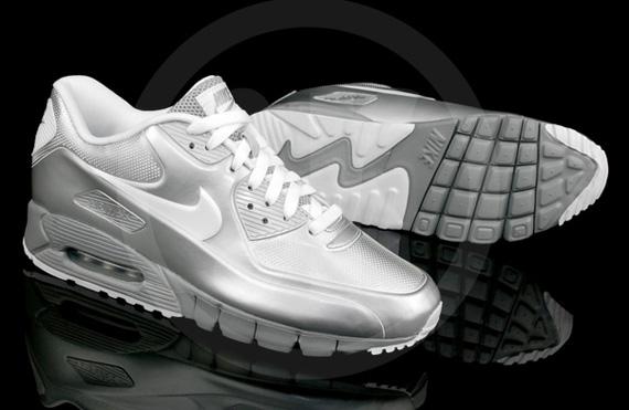 silver nike air max 90