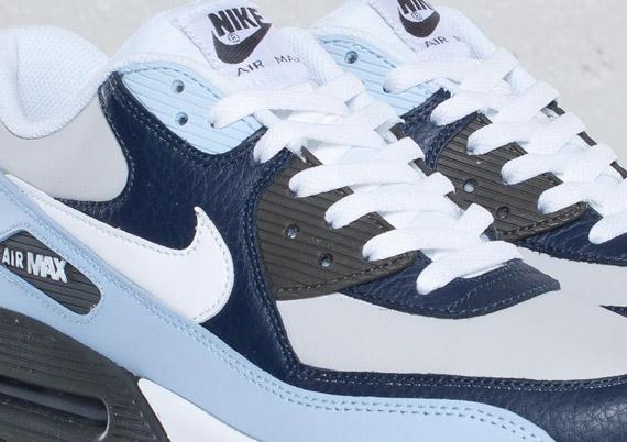 promo code d49ae cd77b 30%OFF Nike Air Max 90 Obsidian White Light Blue