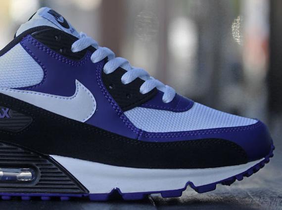 Nike Air Max 90 Noir Violet Et Blanc