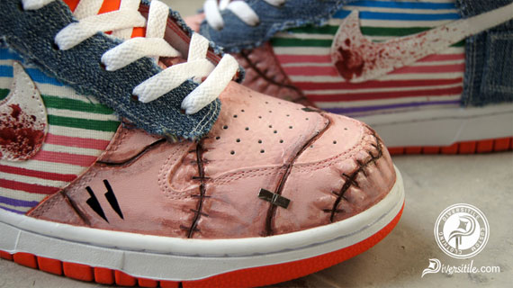cheap for discount 28690 a42d4 Nike Dunk High  Let s Play 2  Customs By Diversitile - SneakerNews.com