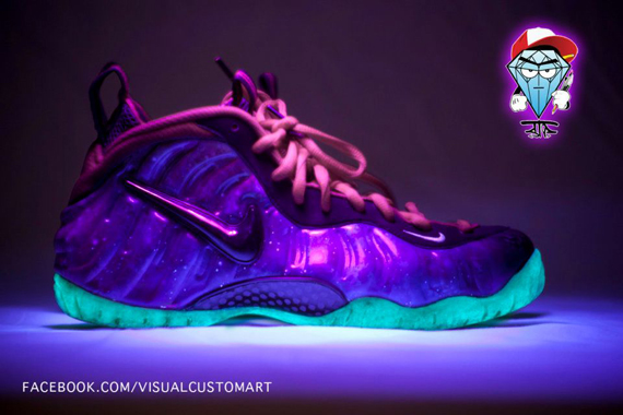 Nike Shoes Foamposite Galaxy