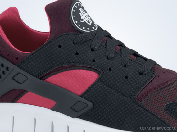 uk availability d442a 61cac outlet Nike Huarache Free Run Black Red Mahogany Scarlet Fire ...