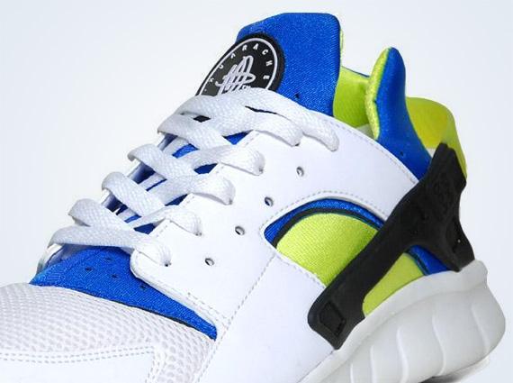 Nike Huarache Free 2012  OG Inspired  - White - Soar - Cyber ... df6db9265d