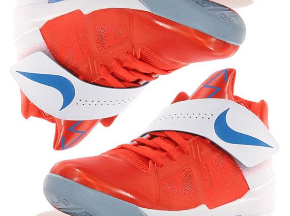 cheap for discount 7e6d0 f62ad Nike Zoom KD IV – Team Orange – Photo Blue – White