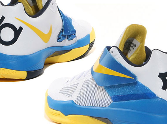 sports shoes 44b99 990e4 Nike Zoom KD IV – White – Tour Yellow – Photo Blue – Midnight Navy