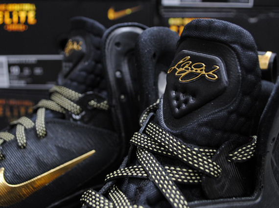 save off 514f5 8e3cf Nike LeBron 9 P.S. Elite - Black - Metallic Gold - SneakerNews.com
